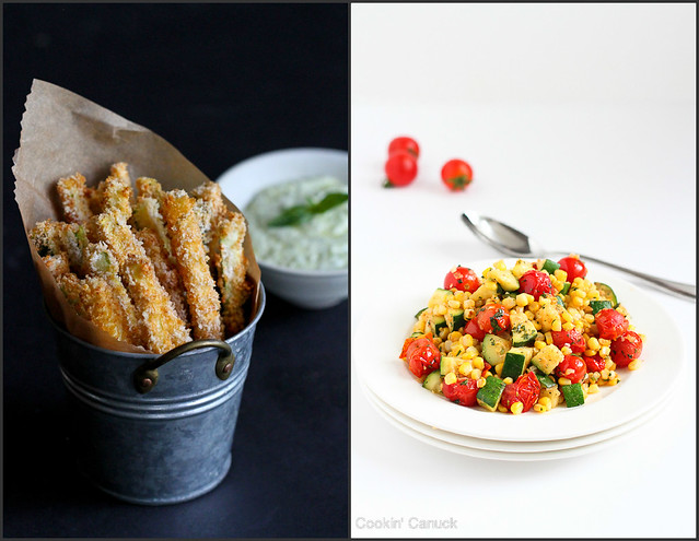Healthy Zucchini Recipes   cookincanuck.com #vegetarian