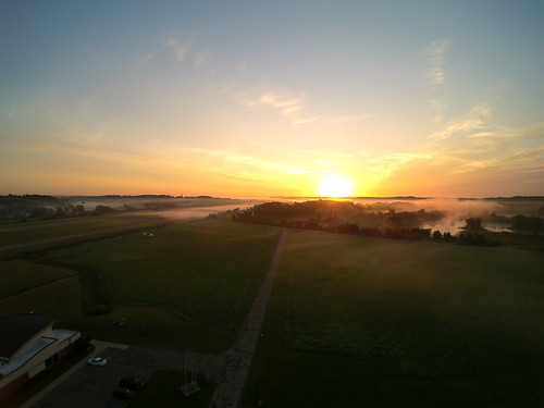 ohio fog sunrise aerial albany uav kuni q500 yuneec