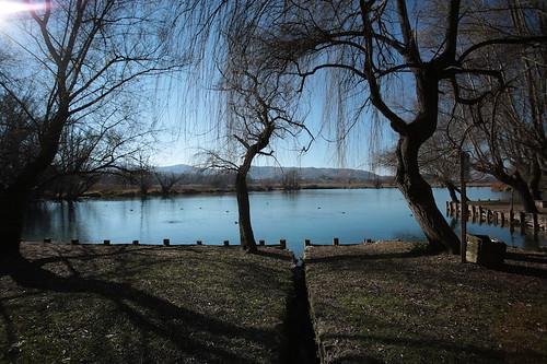 Primi scorci del lago