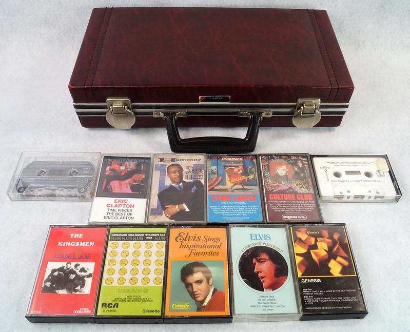 RD12878 Vintage Savoy 24 Cassette Tape Case Haverhill, MA with Bonus Tapes DSC08105