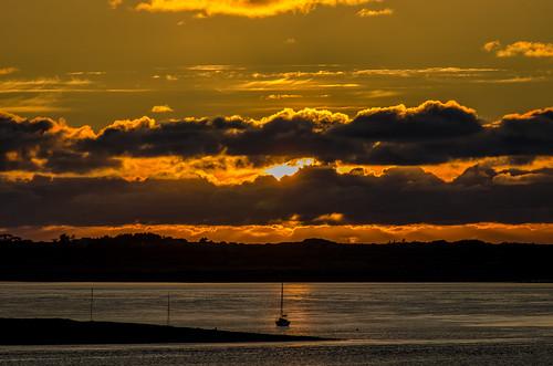 Ireland - Sunset on the Shannon River at Kilrush