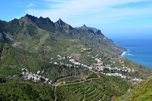 View over Taganana and Anaga Mountains, Tenerife