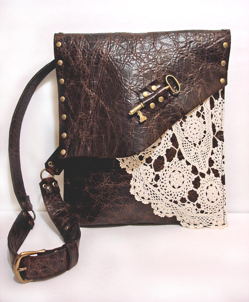 89a4c2baaa Leather Boho Messenger Bag