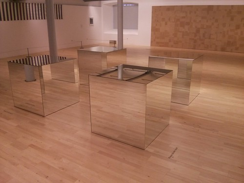 Mirrored Boxes Sculpture
