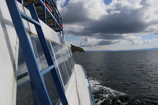 Taking the ferry to Isla del Sol, Lake Titicaca, Bolivia