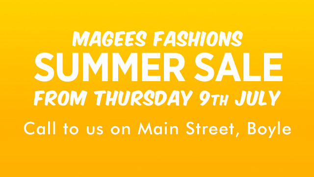 Magee Fashions Summer Sale