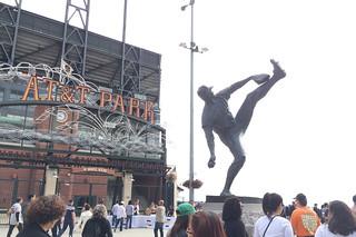 AT&T Park Tour - Statue
