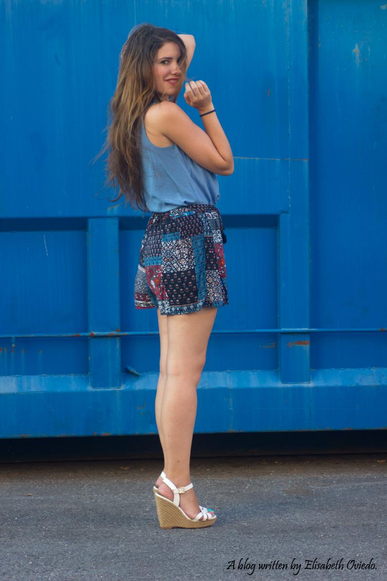 falda azul STRADIVARIUS HEELSANDROSES (8)