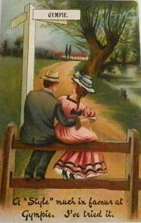 Vintage postcard of Gympie, Queensland