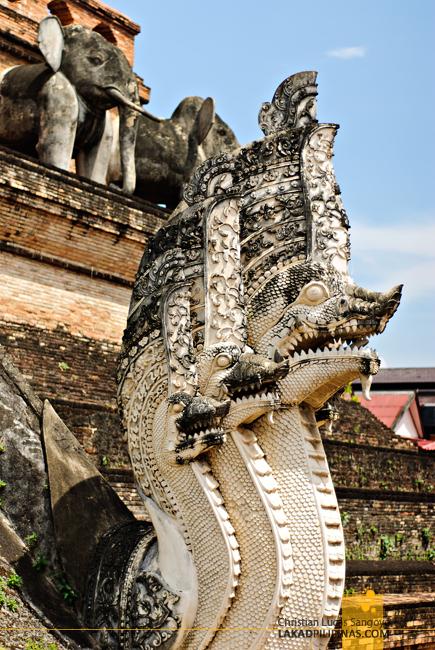 Naga at Wat Chedi Luang Chiang Mai