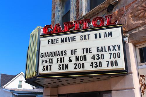 mountgilead morrowcounty ohio village downtown theater theatre movietheater sign marquee