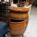 Ornate barrel drinks cabinet