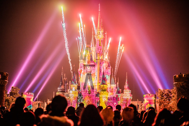 Night Show 'Once Upon a Time' at Tokyo Disneyland