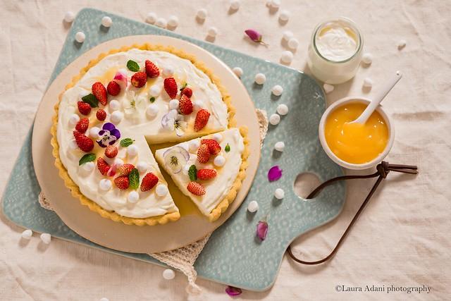 crostata alla mousse di yougurt - A Tavola marzo