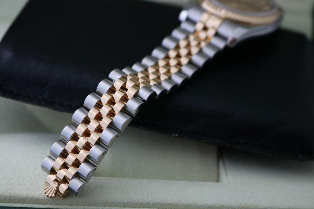 Đồng hồ rolex datejust 6 số 116231 – đè mi vàng 18k – mặt vi tính xoàn – size 36
