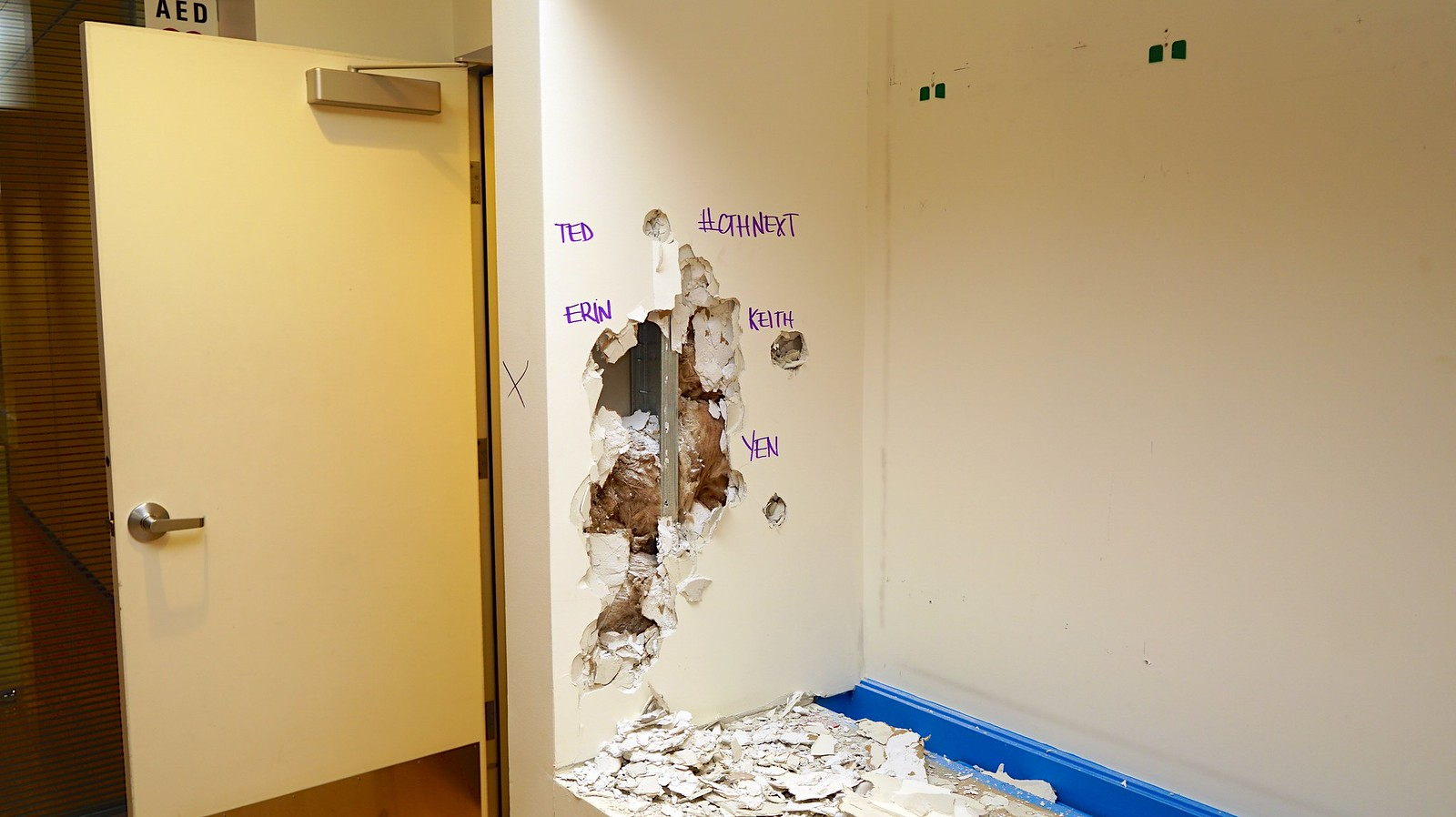Photo Friday: Walls, Ceilings, Closet Doors - the things social innovators shatter.