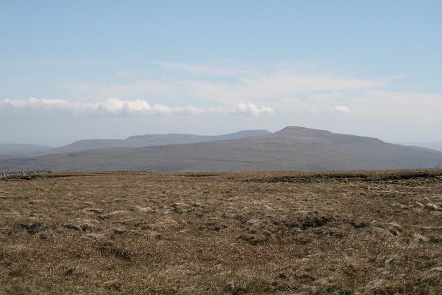 Ingleborough and Whernside from Baugh Fell
