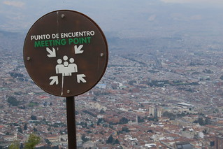 View over Bogota. Monserrate, Bogota, Colombia.