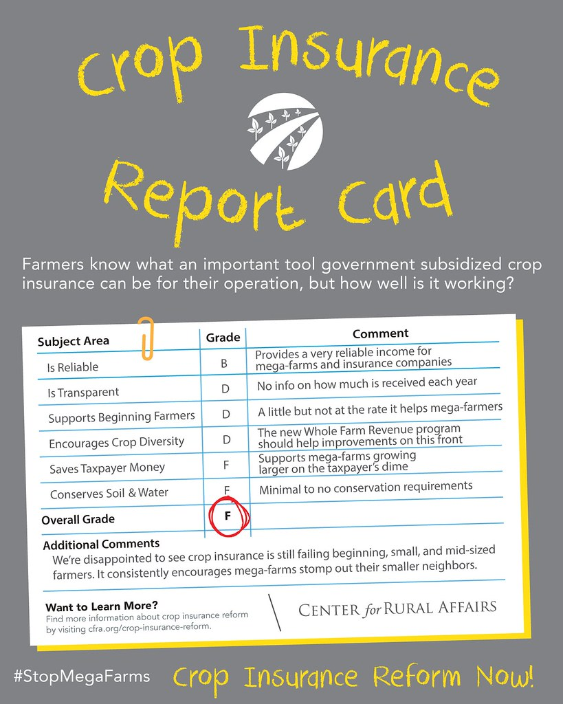 Crop Insurance Report Card