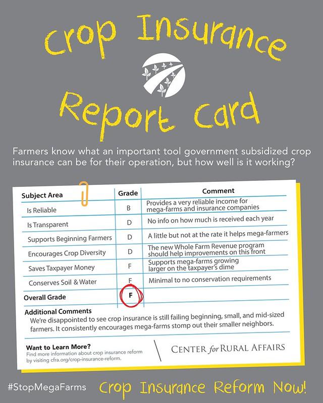 Crop Insurance Report Card