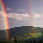 27. Juuli 2015 - 19:28 - Am 27. Juli 2015 gab es auf dem Fichtelberg eine schöne optische Erscheinung, einen  herrlichen Regenbogen am Abend. Bilder: Claudia Hinz (Wetterwarte Fichtelberg)