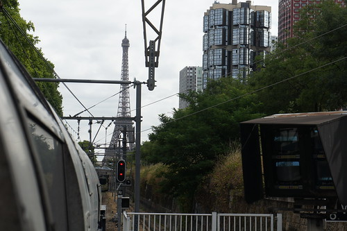 View of Eiffel Tower from Javel RER Station