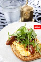 Merguez & Scrambled Eggs On Artisanal Toast