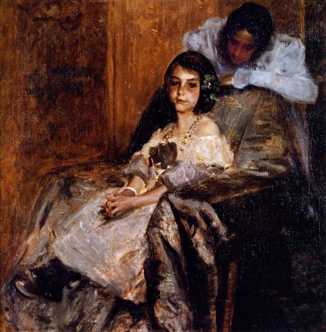 Dorothy and Her Sister by William Merritt Chase, c.1900