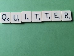 Quitter Scrabble