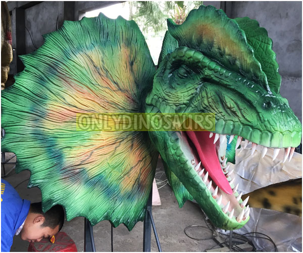 Custom Design Dilophosaurus Head