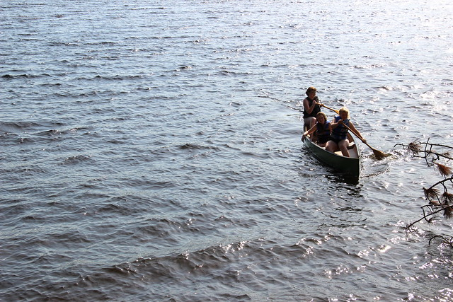 out in the canoe