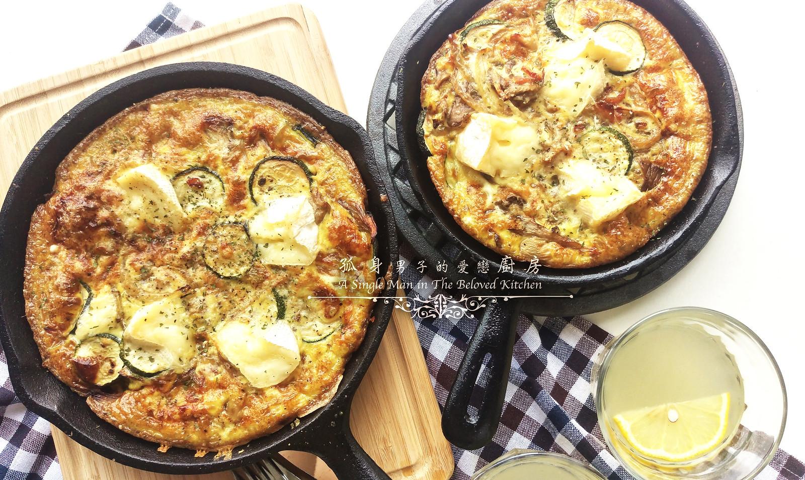 孤身廚房-清冰箱簡單早午餐!培根野菇櫛瓜義式烘蛋Frittata20