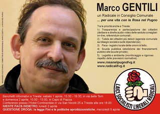 2006 - Trieste - Marco Gentili per la Rosa nel Pugno