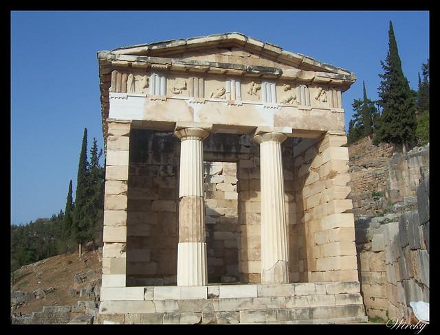 Grecia Delfos Osios Lukas Kalambaka - Tesoro de los Atenienses