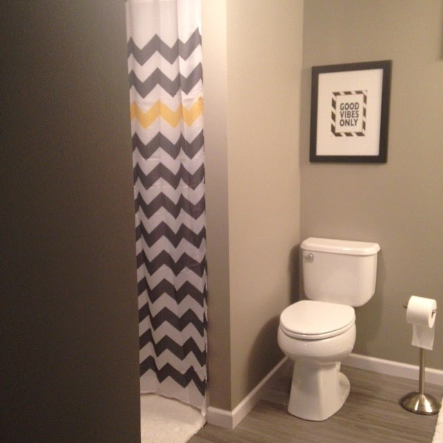 And the basement bathroom is done!!