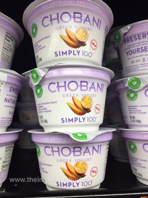 Chobani Simply 100 Mango Passion Fruit Greek Yogurt