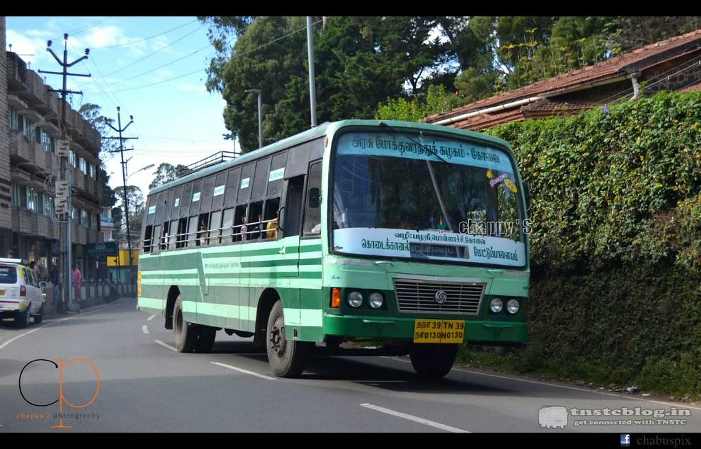 TN-39N-0130 of Palani Depot Route Kodaikanal - Mettupalayam Via Palani, Pollachi, Kovai.
