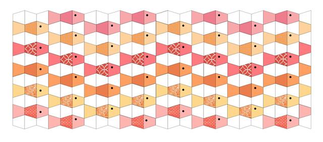 Tumbler Fish, a Free EPP Pattern