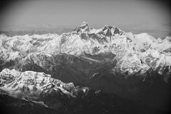 Mount Everest (Nepal) - Seen from a flight to Bhutan