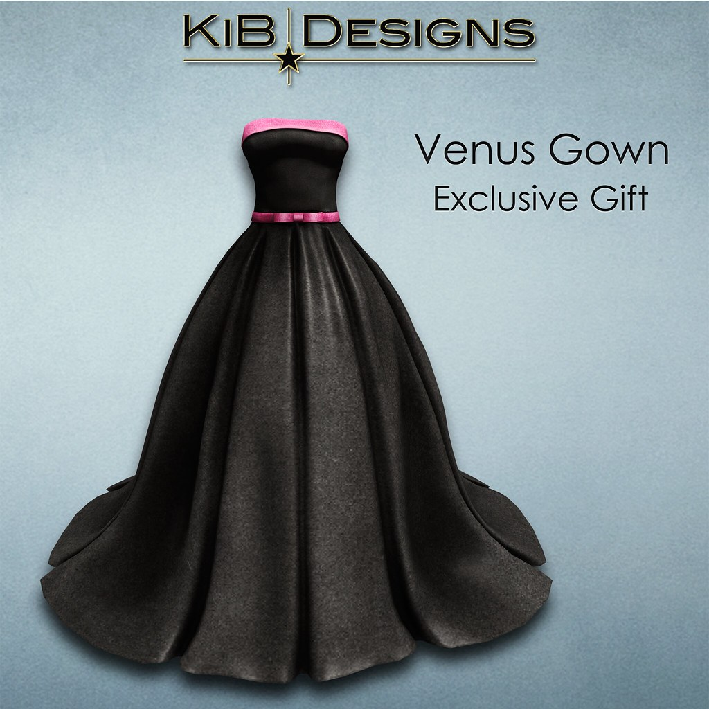 KiB Designs - Venus Gown - Exclusive Gift in 2nd Level - SecondLifeHub.com