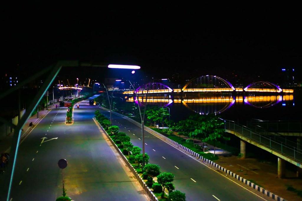 Road beautification of dhaka city