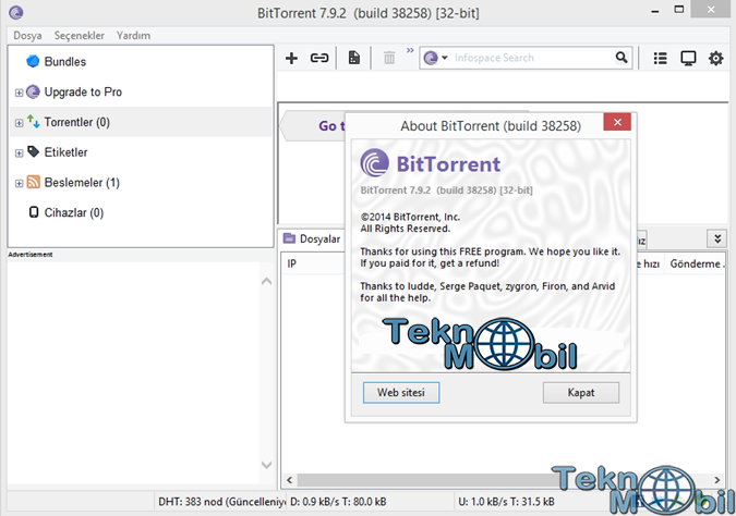 BitTorrent Pro Full v7.9.3 Build 40761 Türkçe