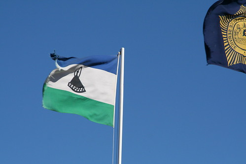 The Lesotho flag