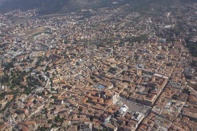 L'Aquila Centro Sorico vista dall'alto