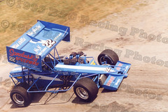 Wing Side Up shot of Doug Saunier at Sandusky Speedway