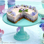 Turquoise melamine cake stand