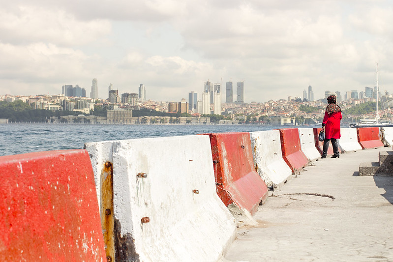 Istanbul cityscape from Uskudar
