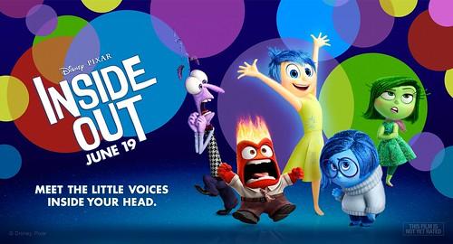 Cartel: Inside out. Del revés. Pixar