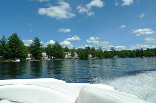 Maine - Lake Pushaw boat ride view 1
