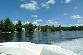 Maine - Lake Pushaw boat ride view 1